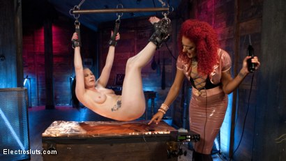 Photo number 3 from Veruca James Submits!  shot for Electro Sluts on Kink.com. Featuring Veruca James and Daisy Ducati in hardcore BDSM & Fetish porn.