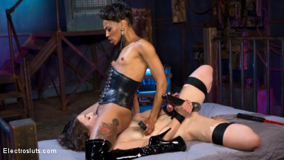 Photo number 4 from Beautiful slut shocked and anally strap-on fucked! shot for Electro Sluts on Kink.com. Featuring Katharine Cane and Nikki Darling in hardcore BDSM & Fetish porn.