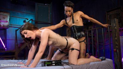Photo number 8 from Beautiful slut shocked and anally strap-on fucked! shot for Electro Sluts on Kink.com. Featuring Katharine Cane and Nikki Darling in hardcore BDSM & Fetish porn.
