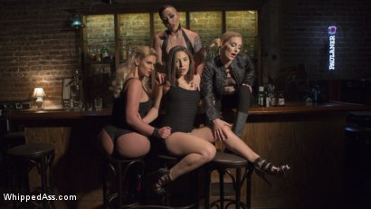 Photo number 1 from Dyke Bar 3: Abella Danger fisted, DP'd and dominated by wild lesbians! shot for Whipped Ass on Kink.com. Featuring Abella Danger, Mona Wales, Mistress Kara and Phoenix Marie in hardcore BDSM & Fetish porn.