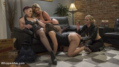 Photo number 3 from Dyke Bar 3: Abella Danger fisted, DP'd and dominated by wild lesbians! shot for Whipped Ass on Kink.com. Featuring Abella Danger, Mona Wales, Mistress Kara and Phoenix Marie in hardcore BDSM & Fetish porn.