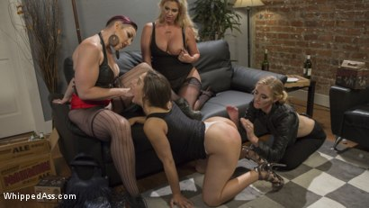 Photo number 2 from Dyke Bar 3: Abella Danger fisted, DP'd and dominated by wild lesbians! shot for Whipped Ass on Kink.com. Featuring Abella Danger, Mona Wales, Mistress Kara and Phoenix Marie in hardcore BDSM & Fetish porn.