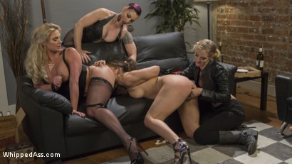 Photo number 4 from Dyke Bar 3: Abella Danger fisted, DP'd and dominated by wild lesbians! shot for Whipped Ass on Kink.com. Featuring Abella Danger, Mona Wales, Mistress Kara and Phoenix Marie in hardcore BDSM & Fetish porn.