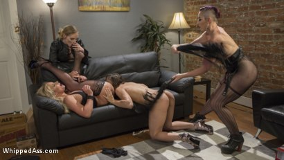 Photo number 6 from Dyke Bar 3: Abella Danger fisted, DP'd and dominated by wild lesbians! shot for Whipped Ass on Kink.com. Featuring Abella Danger, Mona Wales, Mistress Kara and Phoenix Marie in hardcore BDSM & Fetish porn.