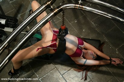 Photo number 4 from Satine Phoenix shot for Fucking Machines on Kink.com. Featuring Satine Phoenix in hardcore BDSM & Fetish porn.