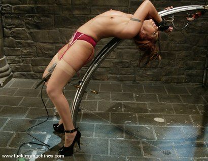 Photo number 6 from Satine Phoenix shot for Fucking Machines on Kink.com. Featuring Satine Phoenix in hardcore BDSM & Fetish porn.