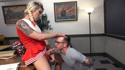 Photo number 6 from Slutty Cheerleader Bribes Tutor With An Athletic Assfucking shot for TS Seduction on Kink.com. Featuring Will Havoc and Aubrey Kate in hardcore BDSM & Fetish porn.