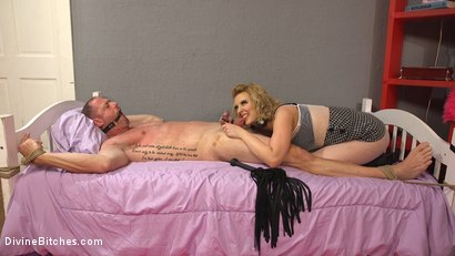 Photo number 8 from Cherry Torn Beats Sleazy Porn Producer Down shot for Divine Bitches on Kink.com. Featuring Cherry Torn and D. Arclyte in hardcore BDSM & Fetish porn.