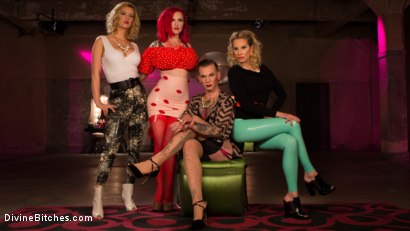 Photo number 2 from Beauty School Dropout  shot for Divine Bitches on Kink.com. Featuring Maitresse Madeline Marlowe , Will Havoc, Cherry Torn and Mz Berlin in hardcore BDSM & Fetish porn.