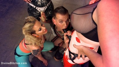 Photo number 8 from Beauty School Dropout  shot for Divine Bitches on Kink.com. Featuring Maitresse Madeline Marlowe , Will Havoc, Cherry Torn and Mz Berlin in hardcore BDSM & Fetish porn.