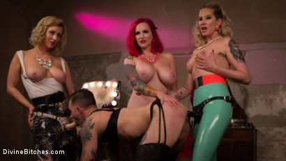 Photo number 12 from Beauty School Dropout  shot for Divine Bitches on Kink.com. Featuring Maitresse Madeline Marlowe , Will Havoc, Cherry Torn and Mz Berlin in hardcore BDSM & Fetish porn.