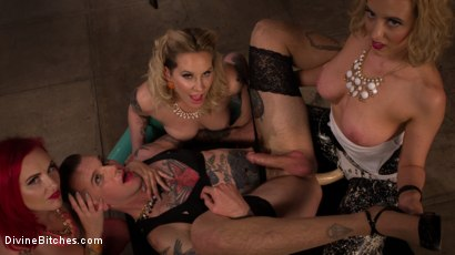 Photo number 5 from Beauty School Dropout  shot for Divine Bitches on Kink.com. Featuring Maitresse Madeline Marlowe , Will Havoc, Cherry Torn and Mz Berlin in hardcore BDSM & Fetish porn.