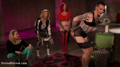 Photo number 3 from Beauty School Dropout  shot for Divine Bitches on Kink.com. Featuring Maitresse Madeline Marlowe , Will Havoc, Cherry Torn and Mz Berlin in hardcore BDSM & Fetish porn.