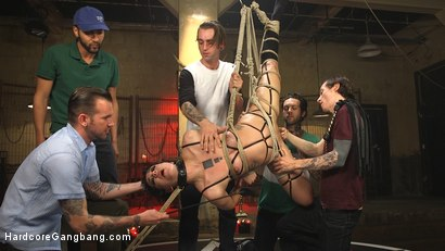 Photo number 7 from SCREAMER: Double Fucked Gangbang In Bondage And Full Suspension shot for Hardcore Gangbang on Kink.com. Featuring Bianca Stone, Will Havoc, Mickey Mod, Gage Sin, Owen Gray and Small Hands in hardcore BDSM & Fetish porn.