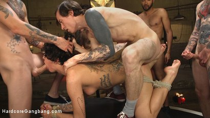 Photo number 20 from SCREAMER: Double Fucked Gangbang In Bondage And Full Suspension shot for Hardcore Gangbang on Kink.com. Featuring Bianca Stone, Will Havoc, Mickey Mod, Gage Sin, Owen Gray and Small Hands in hardcore BDSM & Fetish porn.