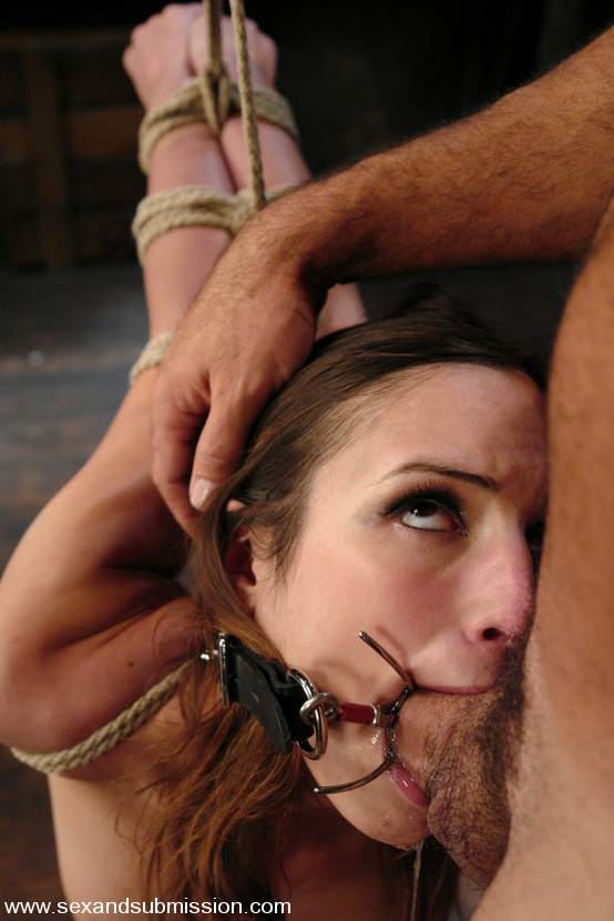 Dental gag blowjob