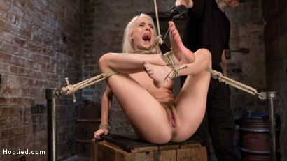 Photo number 1 from Blonde Rope Slut is Victimized and Made to Squirt Uncontrollably!! shot for Hogtied on Kink.com. Featuring Cadence Lux and The Pope in hardcore BDSM & Fetish porn.