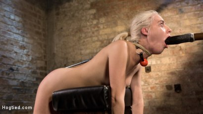 Photo number 11 from Blonde Rope Slut is Victimized and Made to Squirt Uncontrollably!! shot for Hogtied on Kink.com. Featuring Cadence Lux and The Pope in hardcore BDSM & Fetish porn.