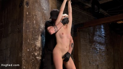 Photo number 14 from Blonde Rope Slut is Victimized and Made to Squirt Uncontrollably!! shot for Hogtied on Kink.com. Featuring Cadence Lux and The Pope in hardcore BDSM & Fetish porn.