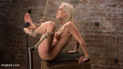 Photo number 5 from Blonde Rope Slut is Victimized and Made to Squirt Uncontrollably!! shot for Hogtied on Kink.com. Featuring Cadence Lux and The Pope in hardcore BDSM & Fetish porn.