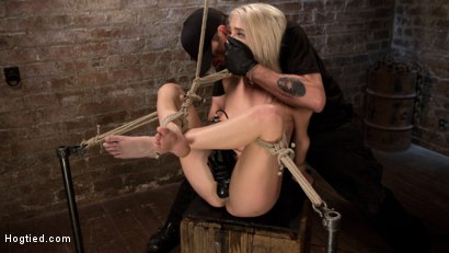 Photo number 7 from Blonde Rope Slut is Victimized and Made to Squirt Uncontrollably!! shot for Hogtied on Kink.com. Featuring Cadence Lux and The Pope in hardcore BDSM & Fetish porn.