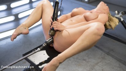 Photo number 3 from Hard Bodied Blonde MILF has Earth Shattering Orgasm from the Machines shot for Fucking Machines on Kink.com. Featuring Cherie DeVille in hardcore BDSM & Fetish porn.