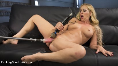 Photo number 4 from Hard Bodied Blonde MILF has Earth Shattering Orgasm from the Machines shot for Fucking Machines on Kink.com. Featuring Cherie DeVille in hardcore BDSM & Fetish porn.