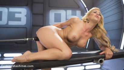 Hard Bodied Blonde MILF has Earth Shattering Orgasm from the Machines
