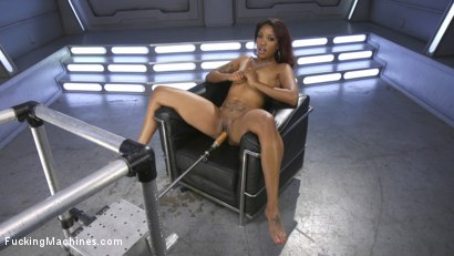 Photo number 1 from Ebony Squirt Slut Soaks Fucking Machines with Her Cum Love shot for Fucking Machines on Kink.com. Featuring Lotus Lain in hardcore BDSM & Fetish porn.