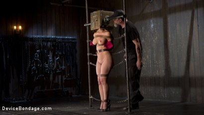Photo number 2 from Fight or Flight = The Bitch That Broke Everything shot for Device Bondage on Kink.com. Featuring Cherie Deville and The Pope in hardcore BDSM & Fetish porn.
