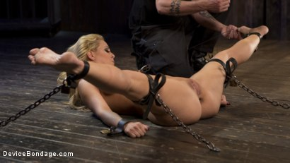Photo number 15 from Fight or Flight = The Bitch That Broke Everything shot for Device Bondage on Kink.com. Featuring Cherie Deville and The Pope in hardcore BDSM & Fetish porn.