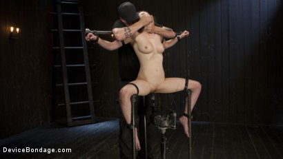 Photo number 3 from Proven Pain Slut shot for Device Bondage on Kink.com. Featuring Casey Calvert  and The Pope in hardcore BDSM & Fetish porn.