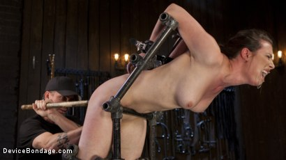 Photo number 4 from Proven Pain Slut shot for Device Bondage on Kink.com. Featuring Casey Calvert  and The Pope in hardcore BDSM & Fetish porn.