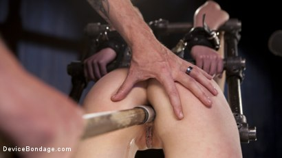 Photo number 7 from Proven Pain Slut shot for Device Bondage on Kink.com. Featuring Casey Calvert  and The Pope in hardcore BDSM & Fetish porn.
