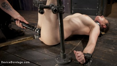 Photo number 8 from Proven Pain Slut shot for Device Bondage on Kink.com. Featuring Casey Calvert  and The Pope in hardcore BDSM & Fetish porn.
