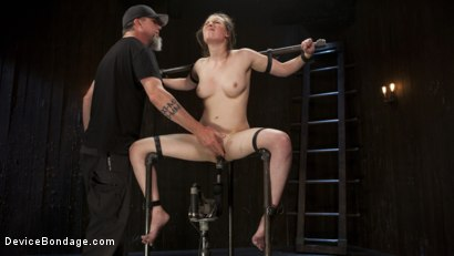 Photo number 9 from Proven Pain Slut shot for Device Bondage on Kink.com. Featuring Casey Calvert  and The Pope in hardcore BDSM & Fetish porn.