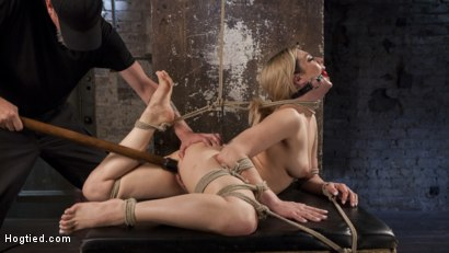 Photo number 4 from Dahlia Sky Submits to Punishing Bondage and Torment shot for Hogtied on Kink.com. Featuring Dahlia Sky in hardcore BDSM & Fetish porn.