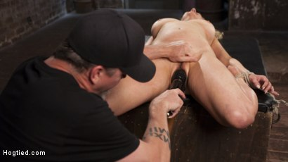 Photo number 14 from Cherry Torn Returns To Hogtied!! shot for Hogtied on Kink.com. Featuring Cherry Torn and The Pope in hardcore BDSM & Fetish porn.