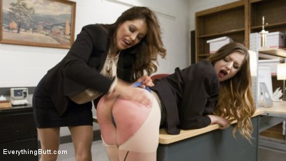 Photo number 3 from From Knife Sales to Phone Sex Stella Cox knows how to please customers shot for Everything Butt on Kink.com. Featuring Stella Cox  and Francesca Le in hardcore BDSM & Fetish porn.