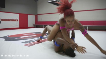 Photo number 12 from 2 ebony goddesses battle in a competitive Sex Fight shot for Ultimate Surrender on Kink.com. Featuring Daisy Ducati and Lisa Tiffian in hardcore BDSM & Fetish porn.