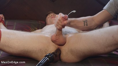 Photo number 7 from Straight stud touched by a guy for the very first time shot for Men On Edge on Kink.com. Featuring Chris Pryce in hardcore BDSM & Fetish porn.