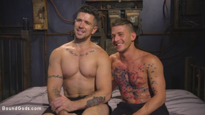 Photo number 15 from Anal Whore taken for a Candlelit Night of Hot Wax and Hard Flogging shot for Bound Gods on Kink.com. Featuring Trenton Ducati and Alexander Gustavo in hardcore BDSM & Fetish porn.
