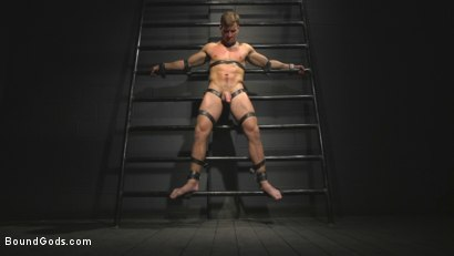 Photo number 1 from Straight stud wants only bondage but he's made to take cock up his ass shot for Bound Gods on Kink.com. Featuring Sebastian Keys and Jordan Boss in hardcore BDSM & Fetish porn.