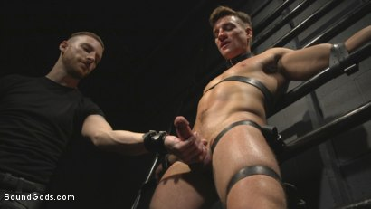 Photo number 2 from Straight stud wants only bondage but he's made to take cock up his ass shot for Bound Gods on Kink.com. Featuring Sebastian Keys and Jordan Boss in hardcore BDSM & Fetish porn.
