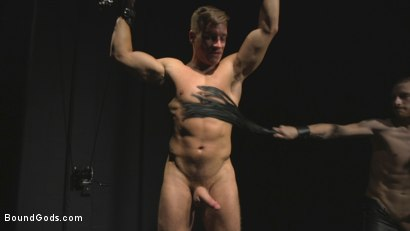 Photo number 9 from Straight stud wants only bondage but he's made to take cock up his ass shot for Bound Gods on Kink.com. Featuring Sebastian Keys and Jordan Boss in hardcore BDSM & Fetish porn.