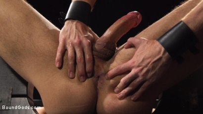 Photo number 5 from Straight stud wants only bondage but he's made to take cock up his ass shot for Bound Gods on Kink.com. Featuring Sebastian Keys and Jordan Boss in hardcore BDSM & Fetish porn.