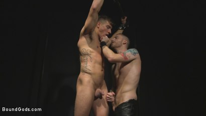 Photo number 7 from Straight stud wants only bondage but he's made to take cock up his ass shot for Bound Gods on Kink.com. Featuring Sebastian Keys and Jordan Boss in hardcore BDSM & Fetish porn.