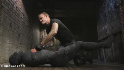 Photo number 1 from Derek Pain vs Christian Wilde shot for Bound Gods on Kink.com. Featuring Christian Wilde and Derek Pain in hardcore BDSM & Fetish porn.