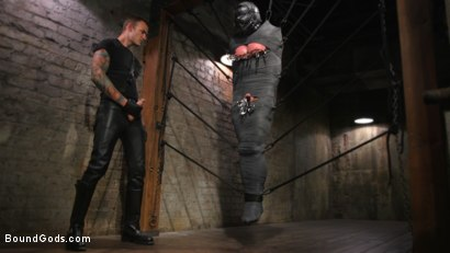 Photo number 10 from Derek Pain vs Christian Wilde shot for Bound Gods on Kink.com. Featuring Christian Wilde and Derek Pain in hardcore BDSM & Fetish porn.