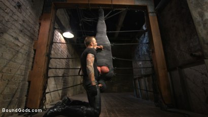 Photo number 12 from Derek Pain vs Christian Wilde shot for Bound Gods on Kink.com. Featuring Christian Wilde and Derek Pain in hardcore BDSM & Fetish porn.